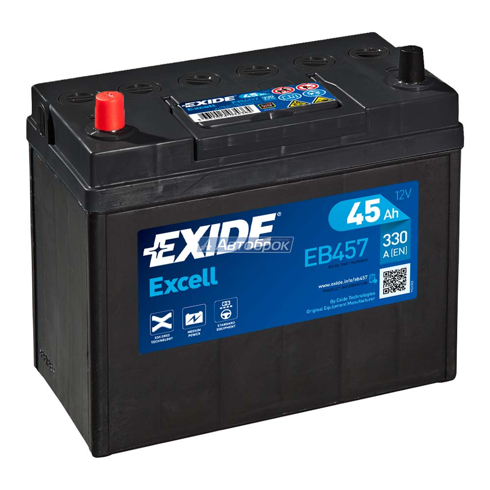 EXIDE EXCELL JIS 45Аh 300A