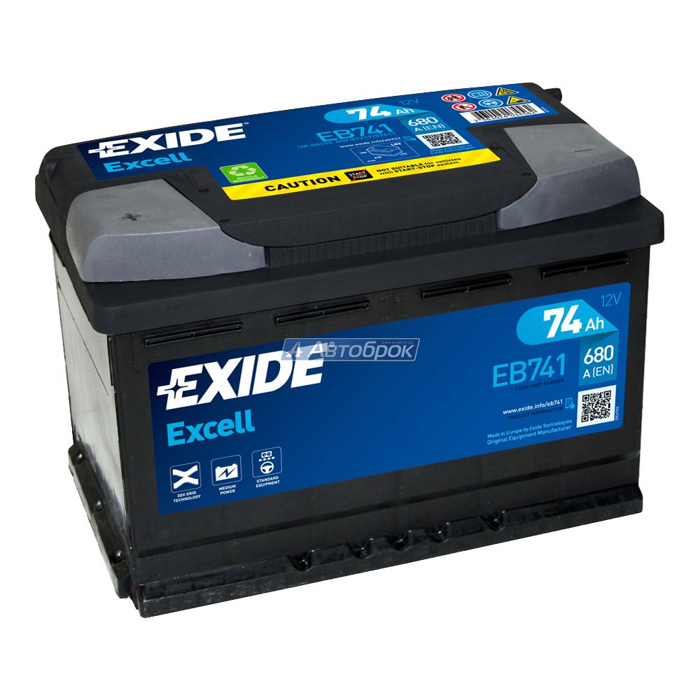 EXIDE EXCELL 74Аh 680A