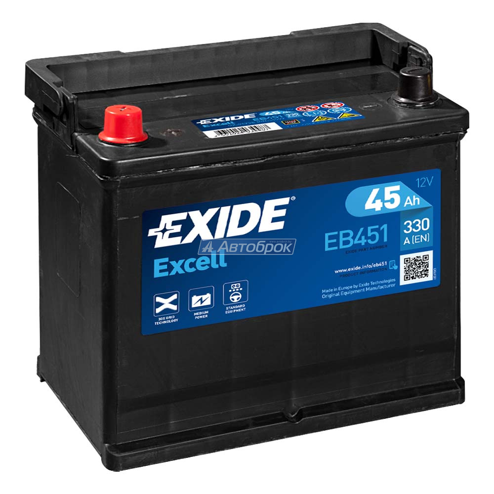 EXIDE EXCELL JIS 45Аh 330A